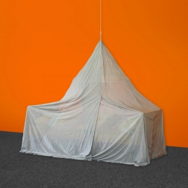 Single Pyramid Canopy, Silver-Tulle